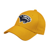 Gold Heavyweight Twill Pro Style Hat-Cougar Head