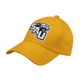 Gold Heavyweight Twill Pro Style Hat-SAU stepped with Cougar Head