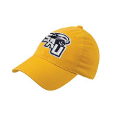 Gold Flexfit Mid Profile Hat-SAU stepped with Cougar Head