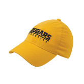 Gold Flexfit Mid Profile Hat-Cougars Athletics