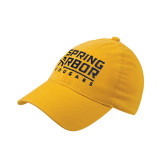Gold Flexfit Mid Profile Hat-Spring Arbor Cougars Stacked