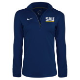NIKE Navy Solid Element 1/4 Zip-Monogram SAU