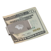 Dual Texture Stainless Steel Money Clip-Cougar Head Engraved
