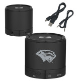 Wireless HD Bluetooth Black Round Speaker-Cougar Head Engraved