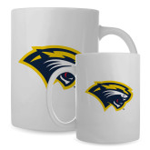Full Color White Mug 15oz-Cougar Head