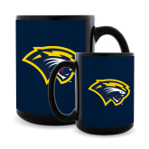 Full Color Black Mug 15oz-Cougar Head