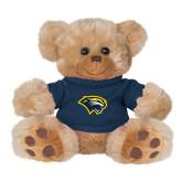 Plush Big Paw 8 1/2 inch Brown Bear w/Navy Shirt-Cougar Head