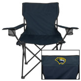 Deluxe Navy Captains Chair-Cougar Head
