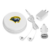 3 in 1 White Audio Travel Kit-Cougar Head