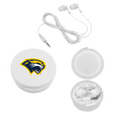 Ear Buds in White Case-Cougar Head
