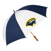 62 Inch Navy/White Vented Umbrella-Cougar Head