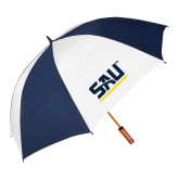 62 Inch Navy/White Vented Umbrella-SAU