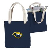 Allie Navy Canvas Tote-Cougar Head