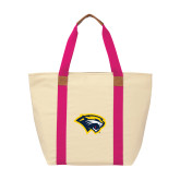 Natural/Tropical Pink Saratoga Tote-Cougar Head