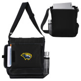 Impact Vertical Black Computer Messenger Bag-Cougar Head