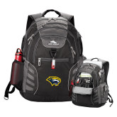 High Sierra Big Wig Black Compu Backpack-Cougar Head