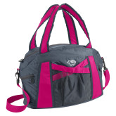 Graphite/Pink Duffel Bag-Cougar Head