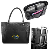 Sophia Checkpoint Friendly Black Compu Tote-Cougar Head