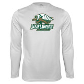 Performance White Longsleeve Shirt-Primary Athletics Mark
