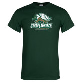 Dark Green T Shirt-Primary Athletics Mark Distressed