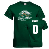 Dark Green T Shirt-Primary Athletics Mark, Custom Tee w/ Name and #