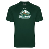Under Armour Dark Green Tech Tee-Primary Athletics Mark