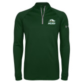 Under Armour Dark Green Tech 1/4 Zip Performance Shirt-Primary Athletics Mark