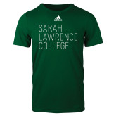 Adidas Dark Green Logo T Shirt-Primary Mark