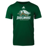 Adidas Dark Green Logo T Shirt-Primary Athletics Mark