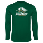 Performance Dark Green Longsleeve Shirt-Primary Athletics Mark