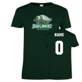 Ladies Dark Green T Shirt-Primary Athletics Mark, Custom Tee w/ Name and #
