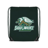 Dark Green Drawstring Backpack-Primary Athletics Mark
