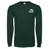 Dark Green Long Sleeve T Shirt-Primary Athletics Mark