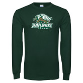 Dark Green Long Sleeve T Shirt-Crew