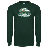 Dark Green Long Sleeve T Shirt-Swimming