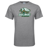 Grey T Shirt-Primary Athletics Mark Distressed