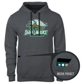 Contemporary Sofspun Charcoal Heather Hoodie-Primary Athletics Mark