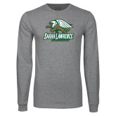 Grey Long Sleeve T Shirt-Primary Athletics Mark