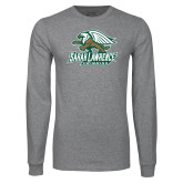 Grey Long Sleeve T Shirt-Swimming