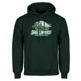 Dark Green Fleece Hood-Basketball