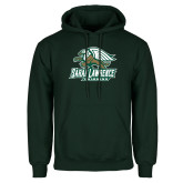 Dark Green Fleece Hood-Swimming