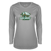Ladies Syntrel Performance Platinum Longsleeve Shirt-Primary Athletics Mark