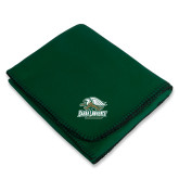 Dark Green Arctic Fleece Blanket-Primary Athletics Mark