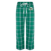 Green/White Flannel Pajama Pant-Primary Athletics Mark