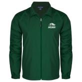 Full Zip Dark Green Wind Jacket-Primary Athletics Mark