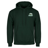 Dark Green Fleece Hood-Primary Athletics Mark