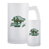Full Color Decorative Frosted Glass Mug 16oz-Primary Athletics Mark