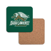 Hardboard Coaster w/Cork Backing-Primary Athletics Mark