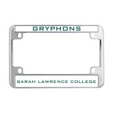 Metal Motorcycle License Plate Frame in Chrome-Gryphons