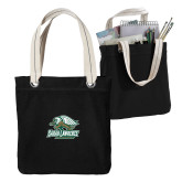 Allie Black Canvas Tote-Primary Athletics Mark